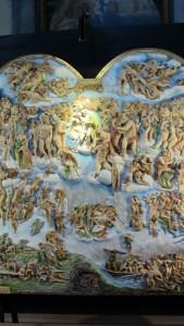 Altorilievo di Edgardo Mugnoz, ispirato all'opera- capolavoro di Michelangelo